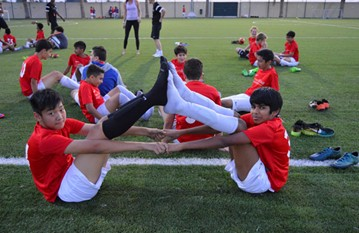 Yoga sessions and Daman healthy eating talks to keep our academy player's fit and healthy for the season'